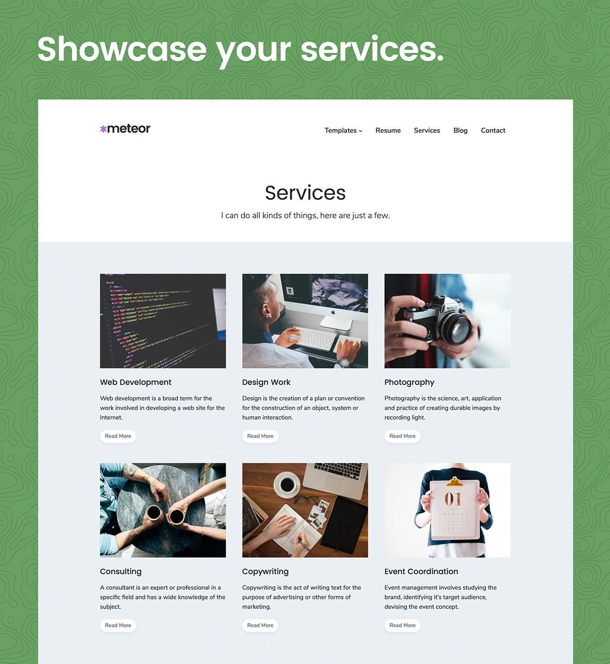Meteor WordPress Theme Services
