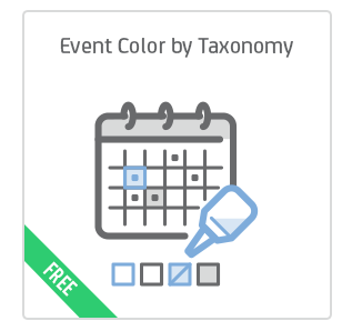 Event Color by Taxonomy add-on for Calendarize it!