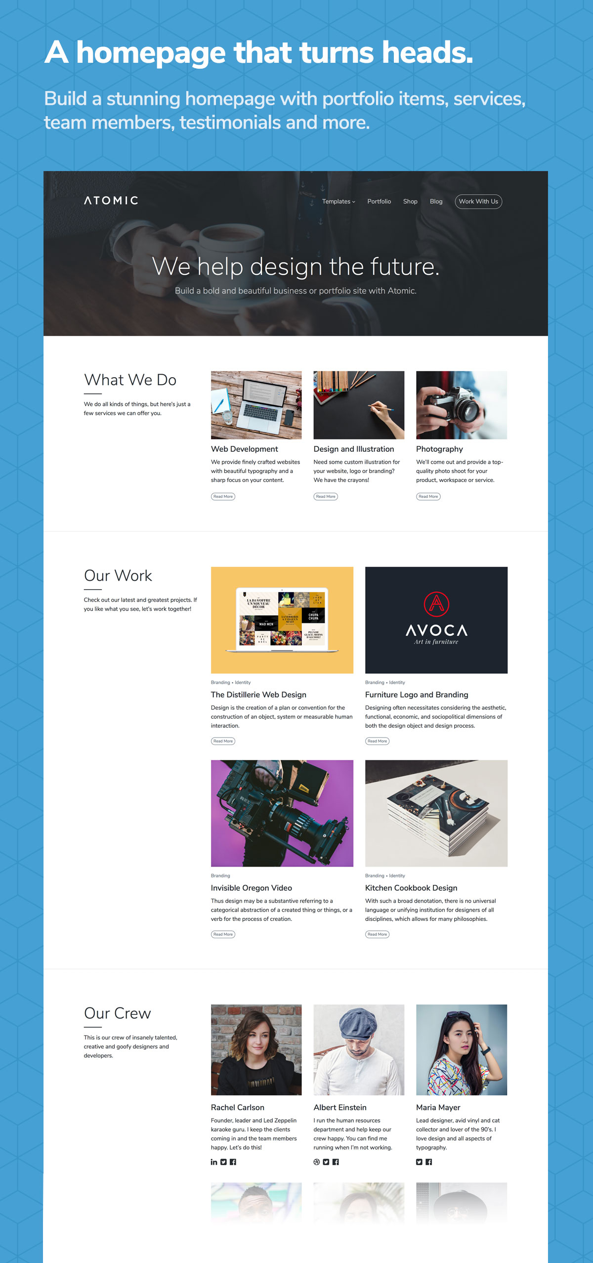Atomic - Bold Business and Portfolio WordPress Theme