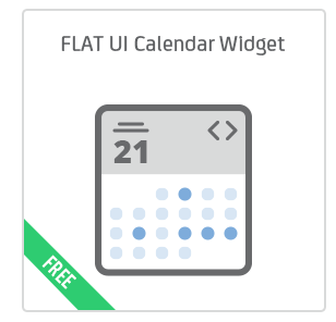 FLAT UI Calendar Widget add-on for Calendarize it!