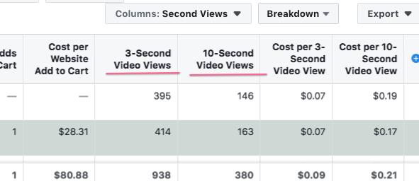 3 second views