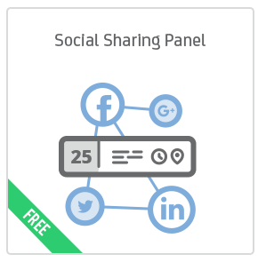 Social Sharing Panel add-on for Calendarize it!