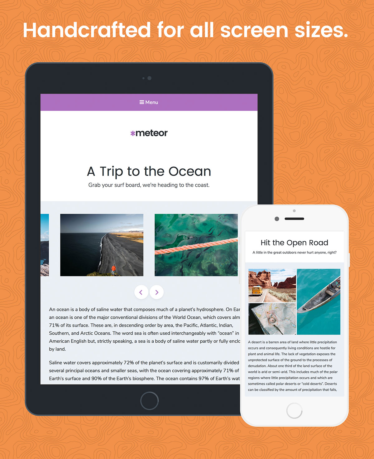 Meteor WordPress Theme Mobile