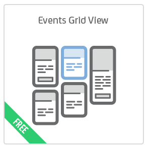 Events Grid View add-on for Calendarize it!