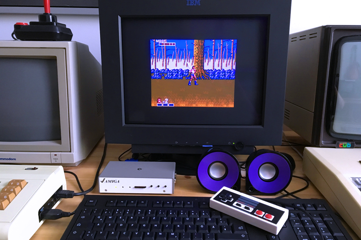 Golden Axe runs perfect on the MiST FPGA (Sega Master System core).