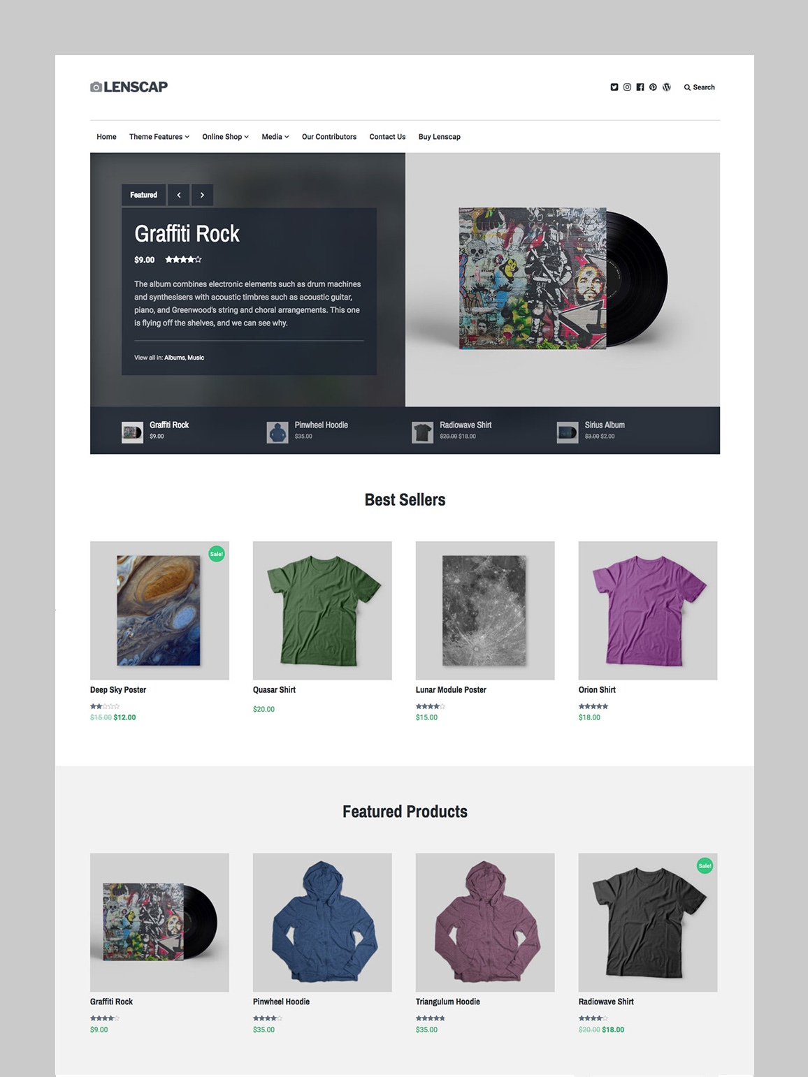 Shop Homepage Template.