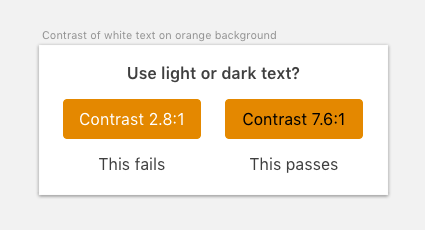 Use light or dark text
