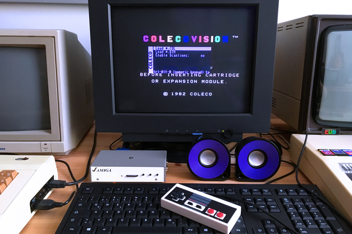 The Colecovision core is one of the many greatly implemented console cores.