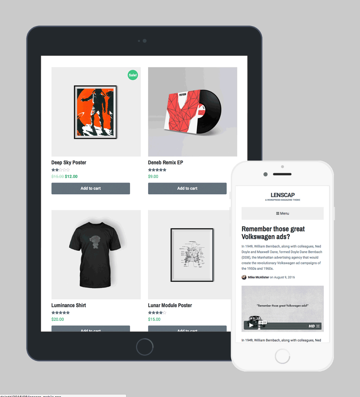 Lenscap - Magazine and eCommerce Theme