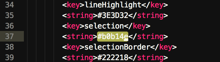 improved text selection in sublime text with a more distinct selection color
