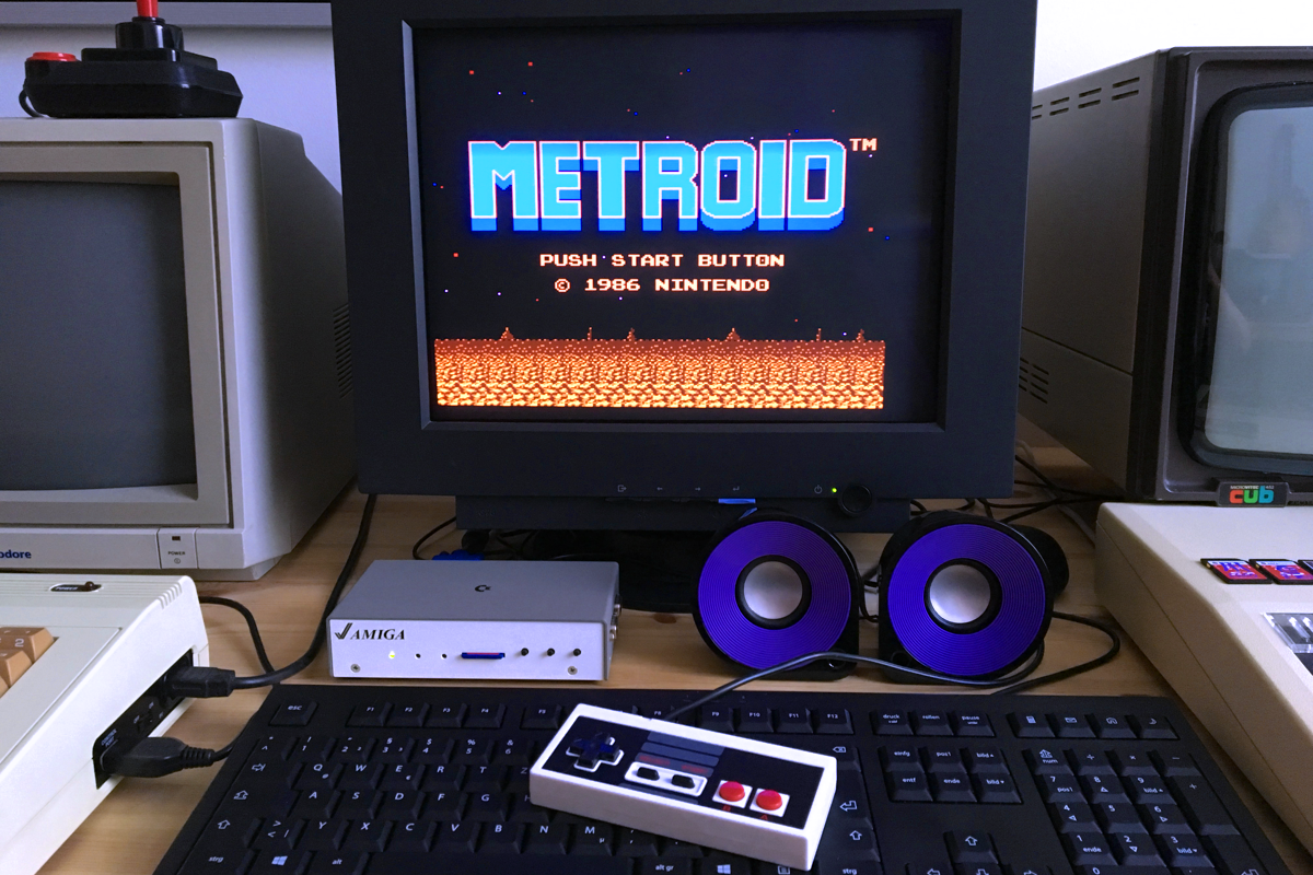 Here is the NES core running Metroid.